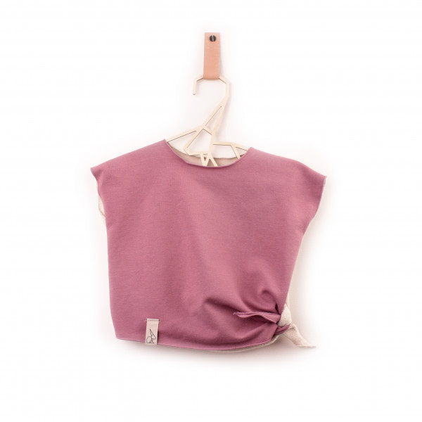 MILLIE knotted T-shirt blush