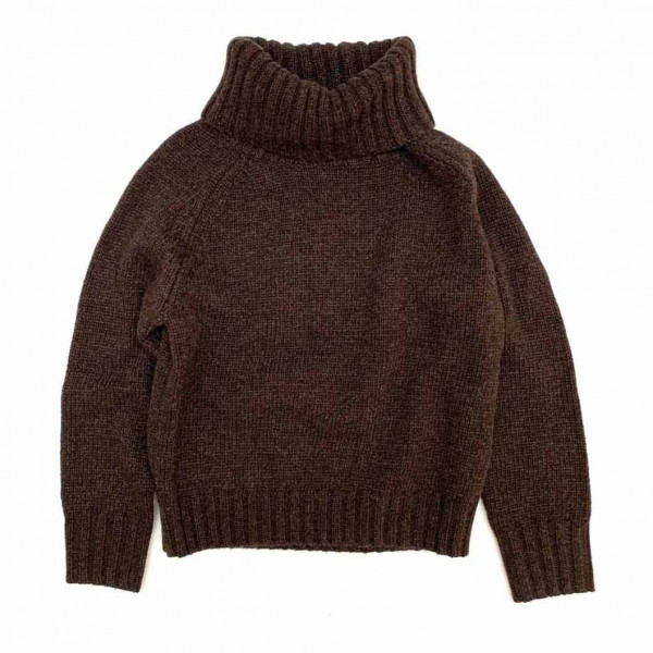 Sweater With Coll Dusty Choc