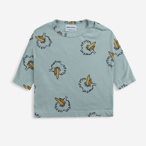 Birdie All Over Long Sleeve Baby T-shirt