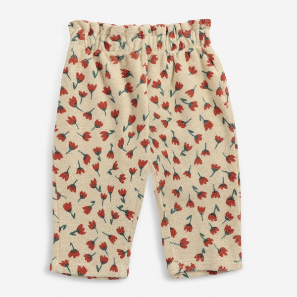 Flowers All Over Terry Baby Jogging Pants