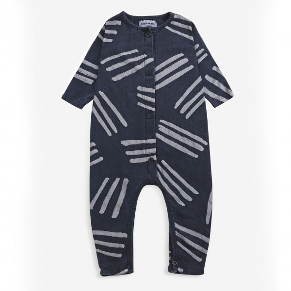 Scratches All Over Fleece Baby Overall