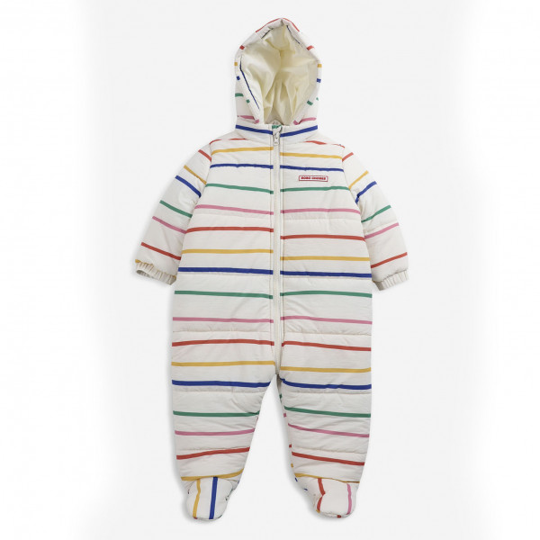 Multicolor Stripes Baby Overall