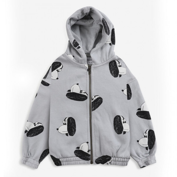 Doggie All Over Zipped Hoodie