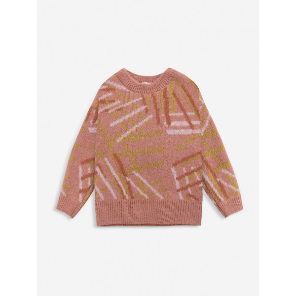 Scratch All Over Knitted Jumper