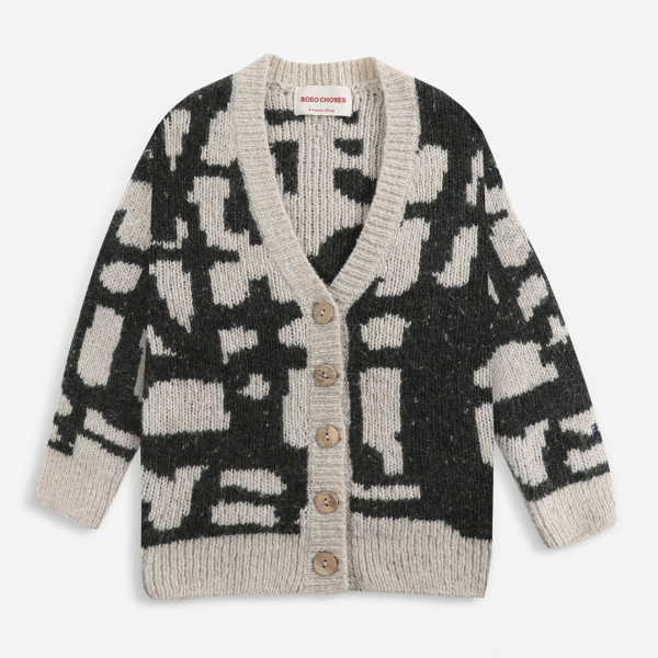 Painting Knitted Cardigan