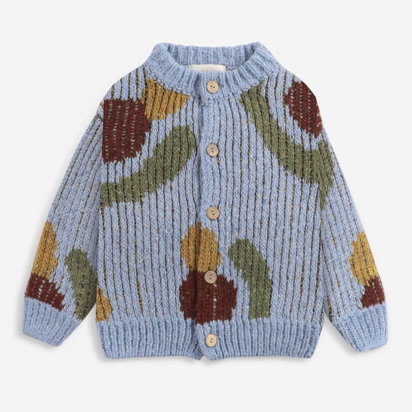 Fruits All Over Knitted Cardigan