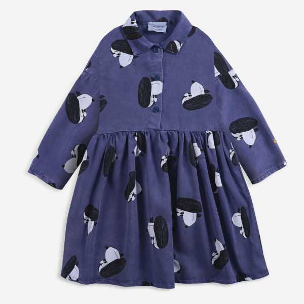 Doggie All Over Woven Buttoned Dress