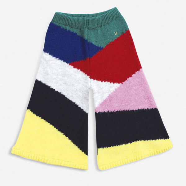 Multi Color Block Knitted Pants
