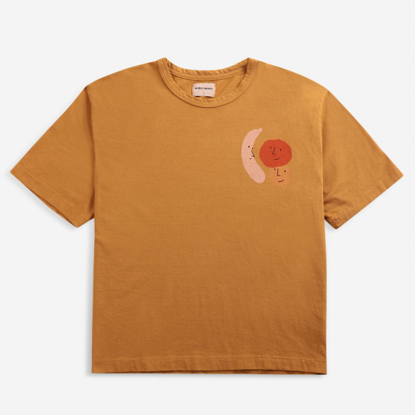 Brown Recycled Cotton Loose T-shirt