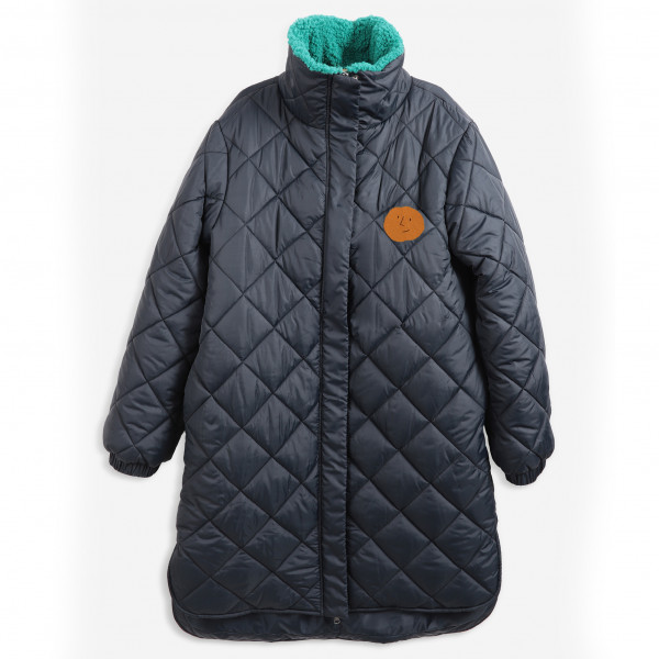 Roll-Neck Zip-Up Padded Jacket