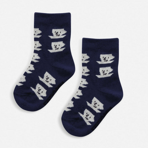 Blue Cup Of Tea All Over Baby Socks