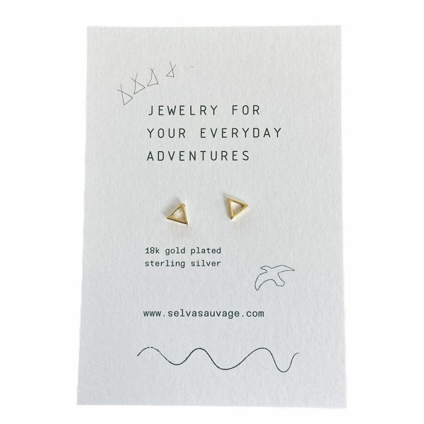 Earstuds Pair Open Triangle Gold