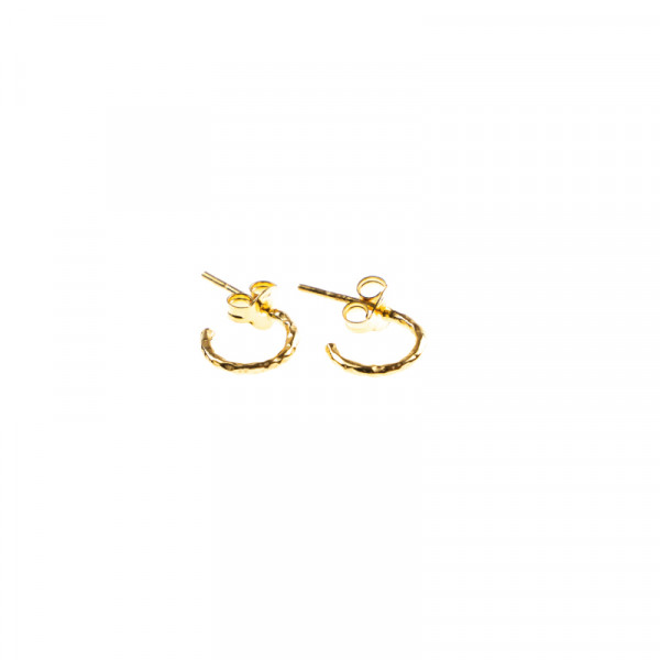 Hoops Hammered Gold