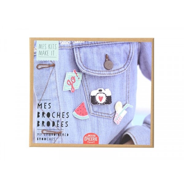 DIY KIT Embroided Broches