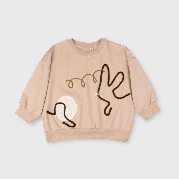 Tony Sweater With Embroidery Cafe Au Lait