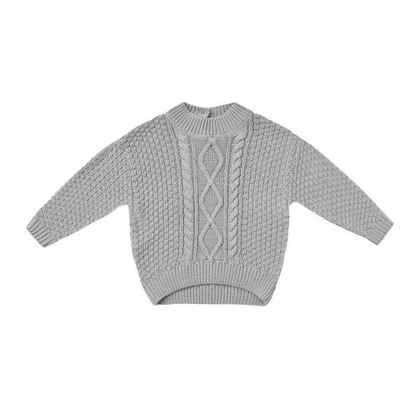 Cable Knit Sweater Dusty Blue