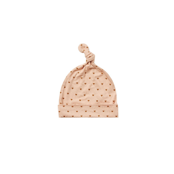 Bamboo Knotted Baby Hat Hearts