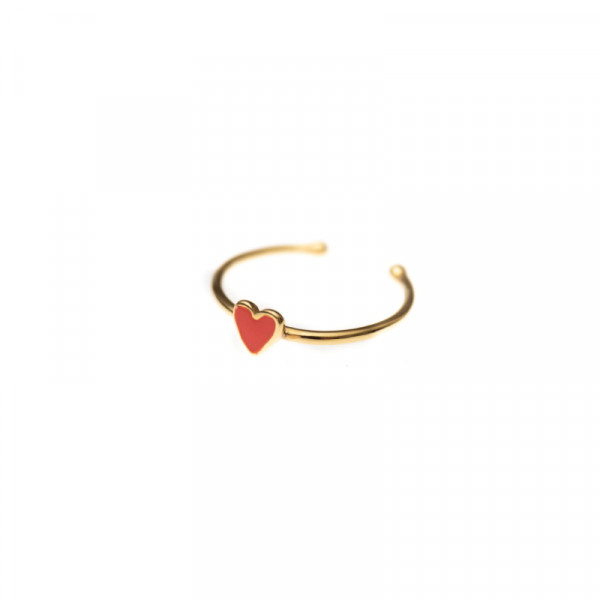 Ring Kids Heart Red