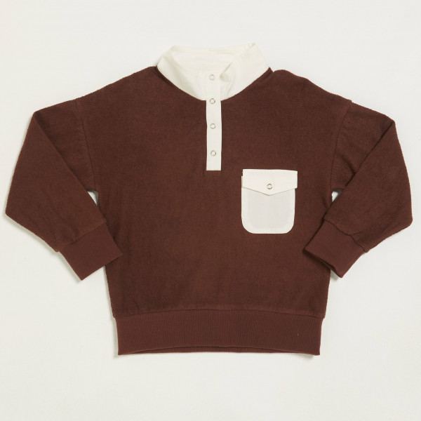 Club Buttoned Sweater