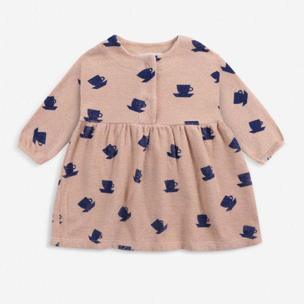 Cup Of Tea All Over Terry Baby Dress