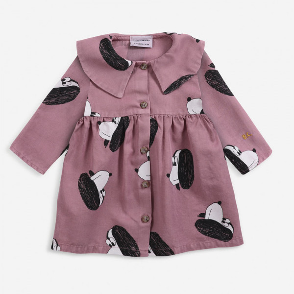 Doggie All Over Buttoned Woven Baby Dress