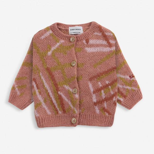 Scratch Knitted Baby Cardigan
