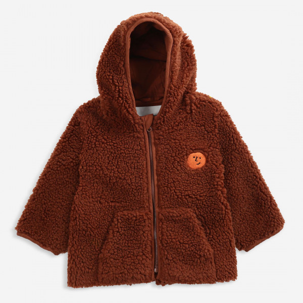 Face Embroidery Baby Hooded Sheepskin