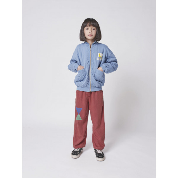 Sholar Worm Zipped Quilted Sweat