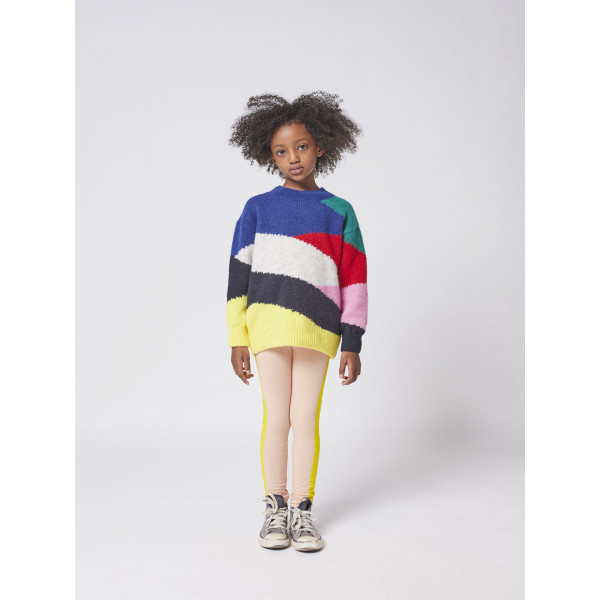 Multi Color Block Knitted Jumper