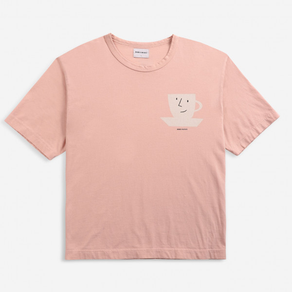Pink Recycled Cotton Loose T-shirt