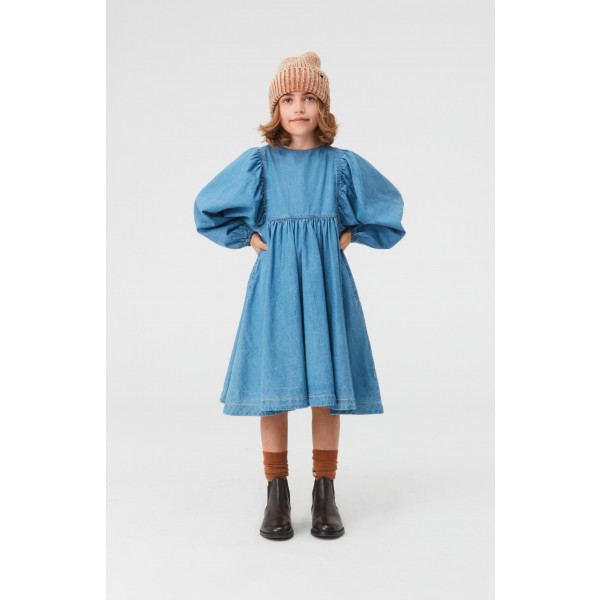 Caly Dress Washed Blue