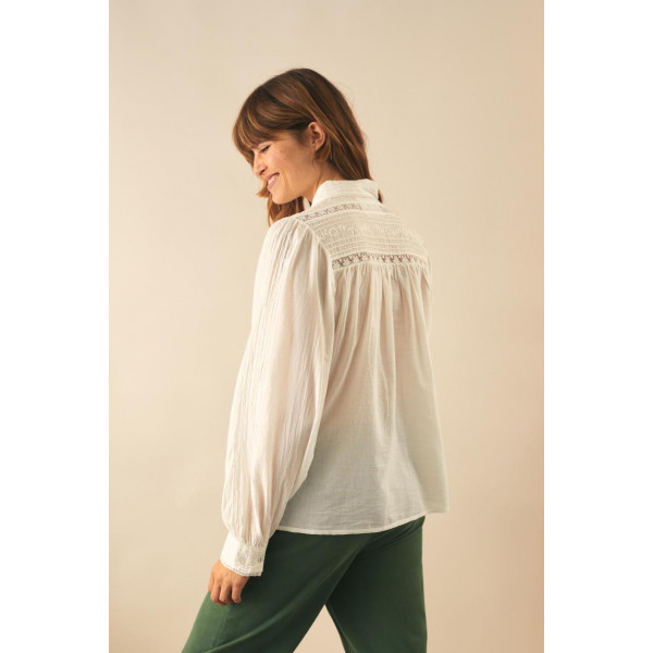 Cosy Brode Shirt White