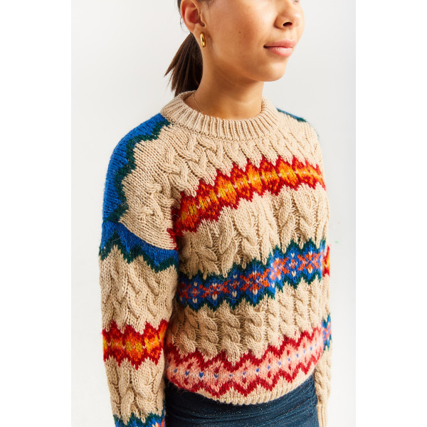 Kayak Cabled Knit Sweater