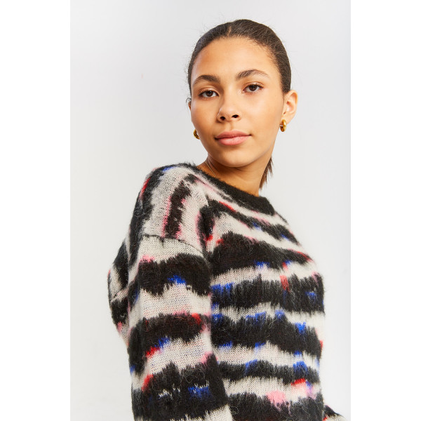 Kylie Mohair Knit Sweater